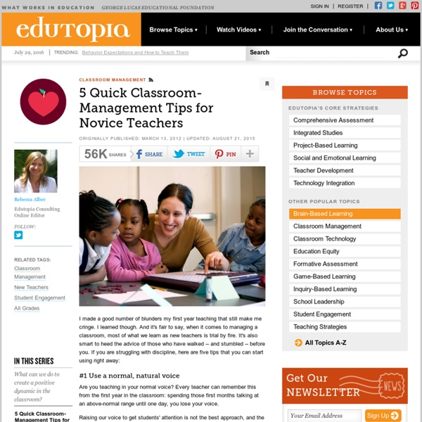 5 Quick Classroom-Management Tips for Novice Teachers