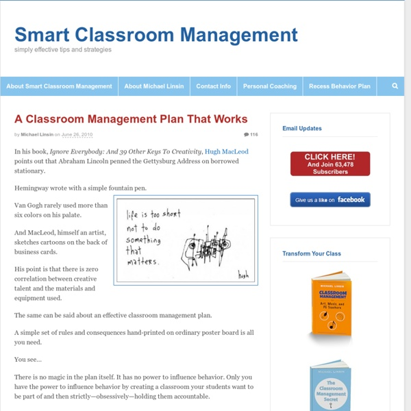 A Classroom Management Plan That Works