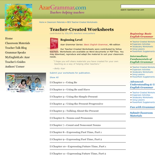 Classroom Materials » BEG Teacher-Created Worksheets