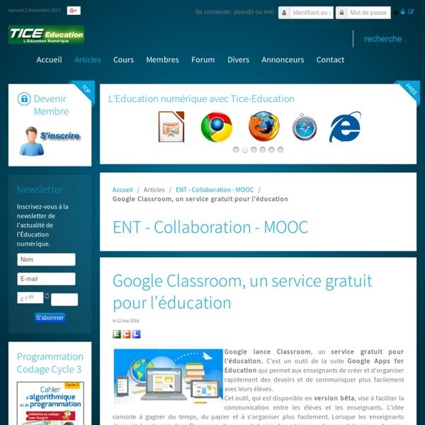 Google Classroom, un service gratuit pour l'éducation