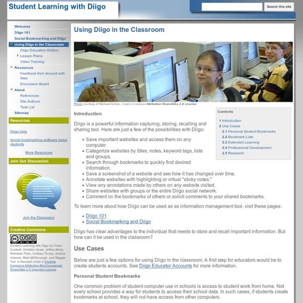 Using Diigo in the Classroom - Student Learning with Diigo