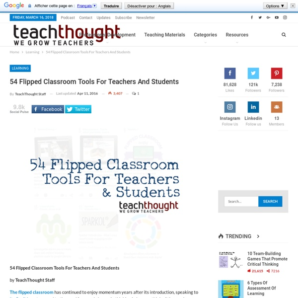 54 Flipped Classroom Tools For Teachers And Students -