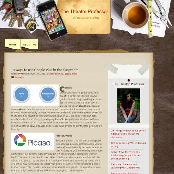 10 ways to use Google Plus in the classroom