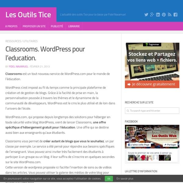 Classrooms. Wordpress pour l'education
