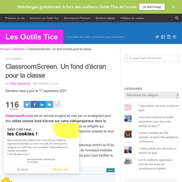 ClassroomScreen. Les raisons d'un fond d'écran pour la classe