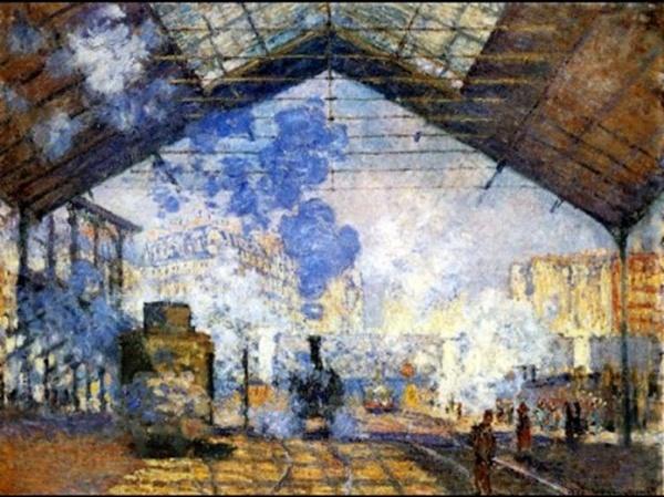 Vidéo: Les trains à vapeur chez les peintres impressionnistes (cliquer sur logo youtube)