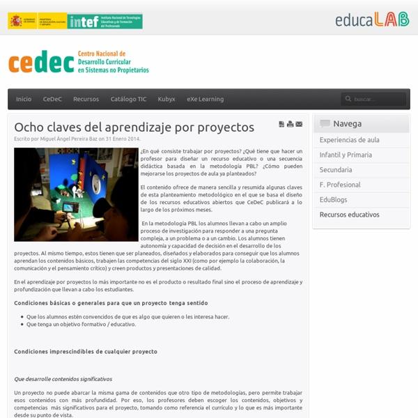 Ocho claves del aprendizaje por proyectos