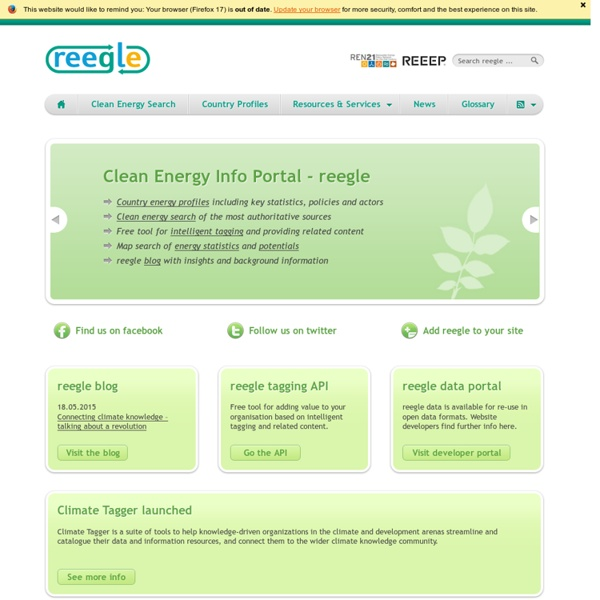 Clean Energy Info Portal - reegle