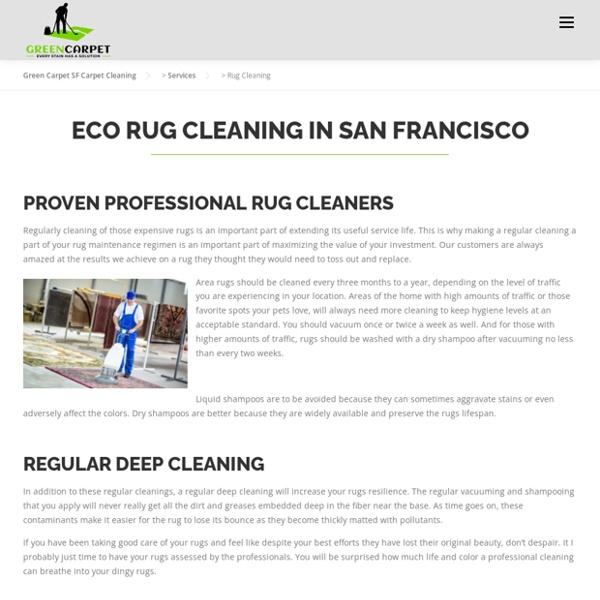 Organic Carpet Cleaning Benefits