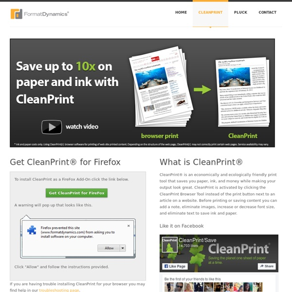 CleanPrint Browser Tool
