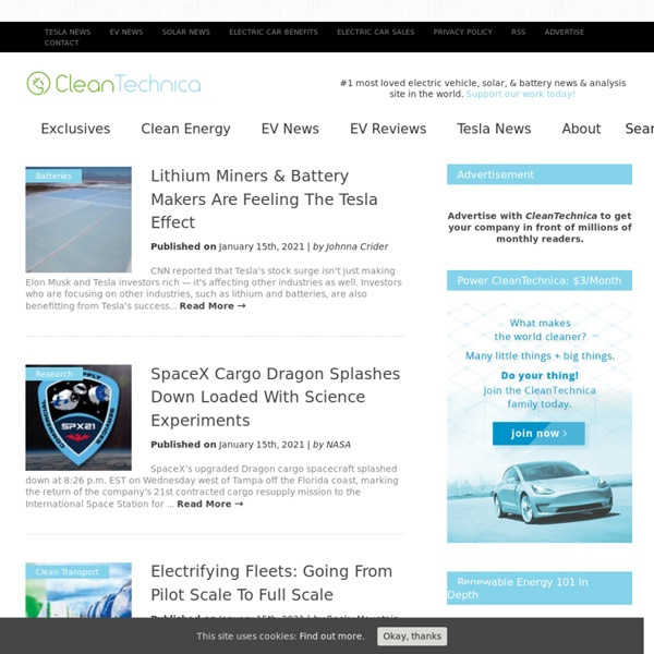 Cleantech News — Solar, Wind, EV News (#1 Source)