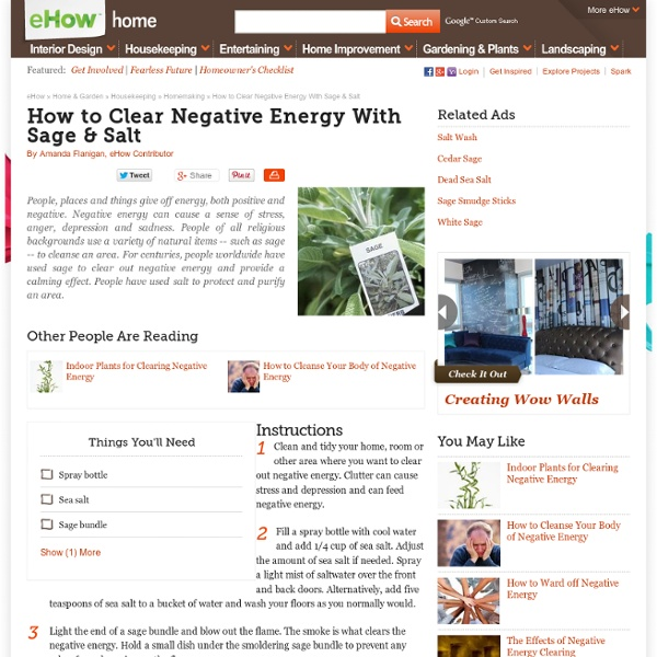 How to Clear Negative Energy With Sage & Salt