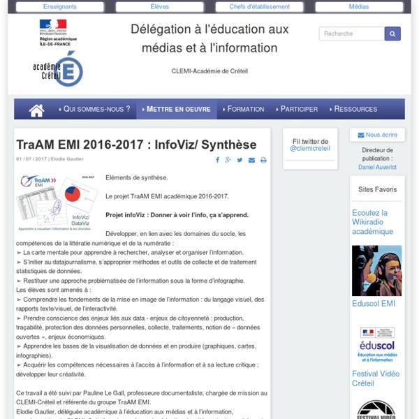 TraAM EMI 2016-2017 : InfoViz/ Synthèse