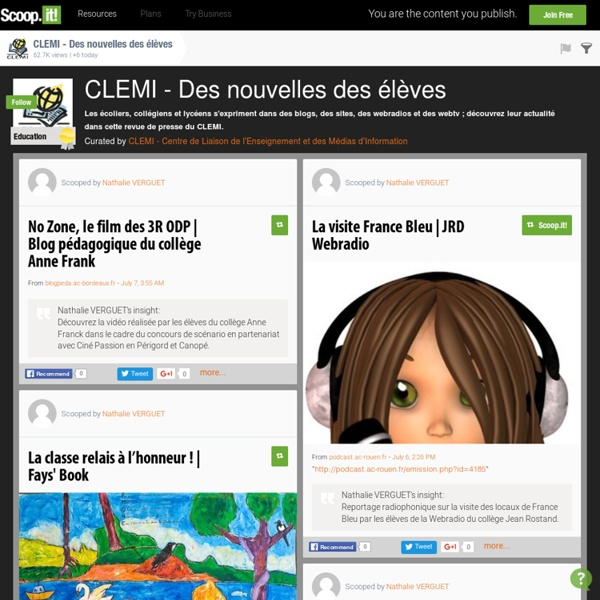 CLEMI - Des nouvelles des élèves
