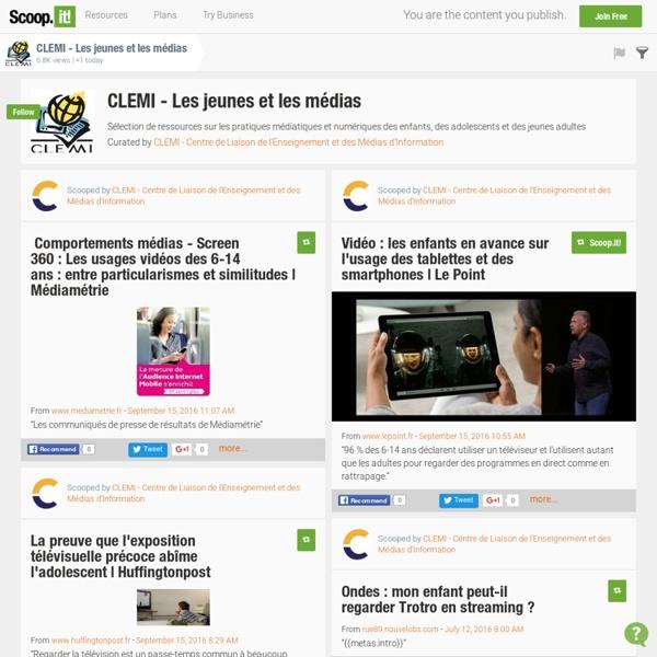 """La revue de presse du CLEMI sur """"Les jeunes et les médias"""""""