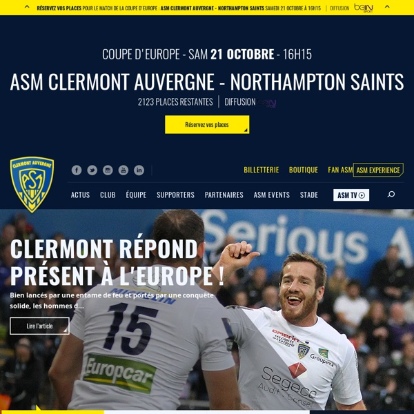 ASM Clermont Auvergne - Rugby - Accueil