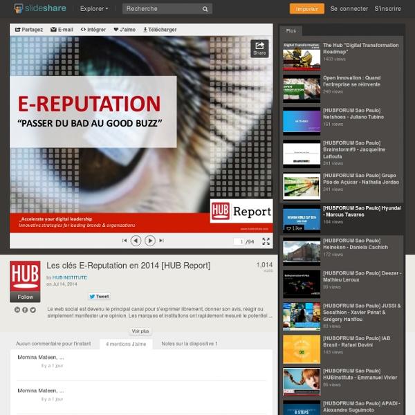Les clés de l'E-Reputation en 2014 [HUB Report]