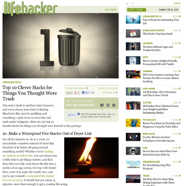 Top 10 Clever Hacks for Things You Thought Were Trash