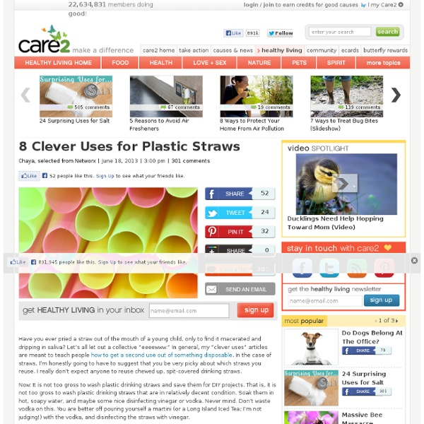 8 Clever Uses For Plastic Straws