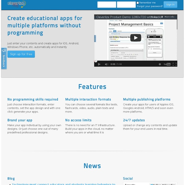 Cleverlize - Mobile Learning made by YOU