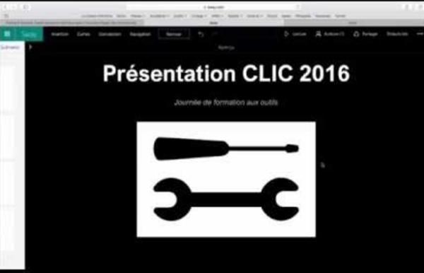 CLIC2016 - Atelier technique - Sway