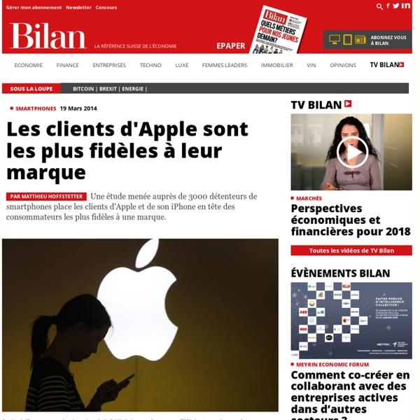 Les clients d'Apple sont les plus fidèles à leur marque