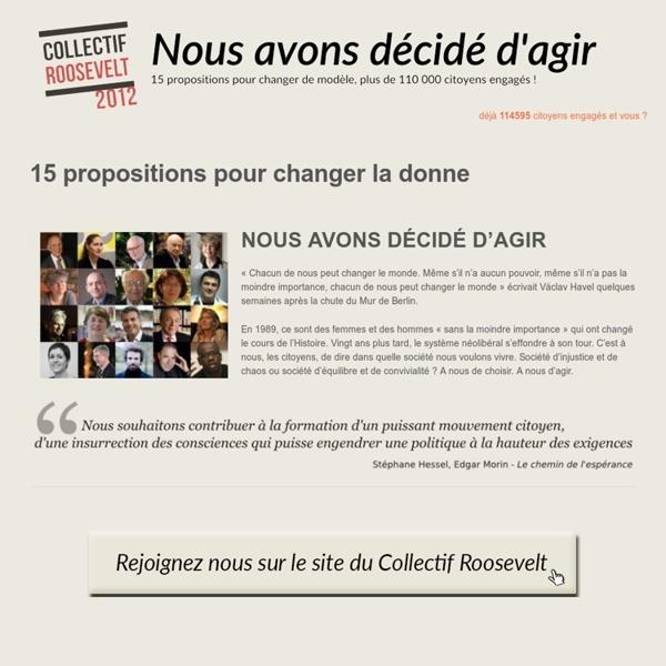 Roosevelt 2012 - un collectif et 15 réformes pour changer la donne