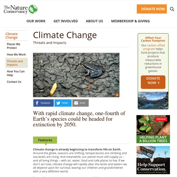 Climate Change Impacts & Threats