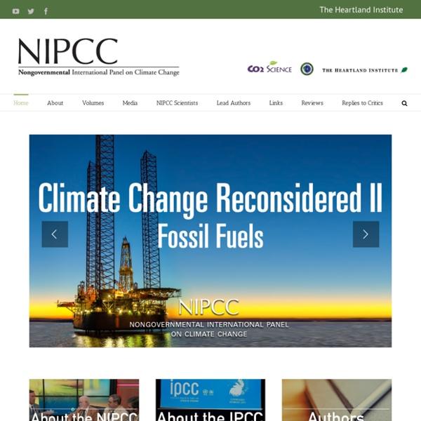 Le site climatosceptique CLIMATECHANGERECONSIDERED du groupe de pression HEARTLAND INSTITUTE.