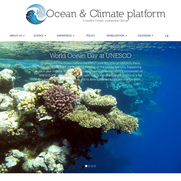 Ocean & Climate platform – A healthy Ocean, a protected Climate