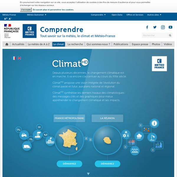 ClimatHD : le climat passé et futur en France – Une application de Météo-France