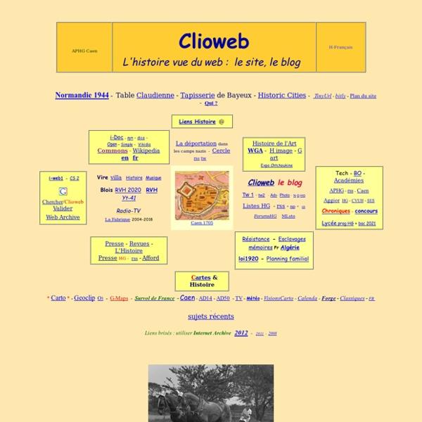 Clioweb - Histoire et internet