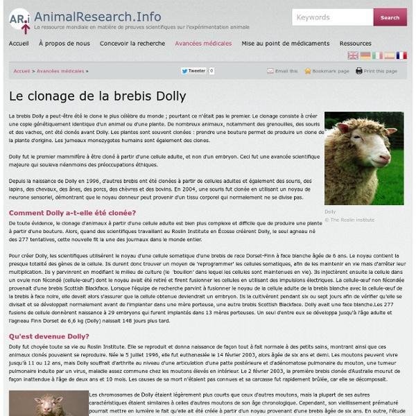 Le clonage de la brebis Dolly