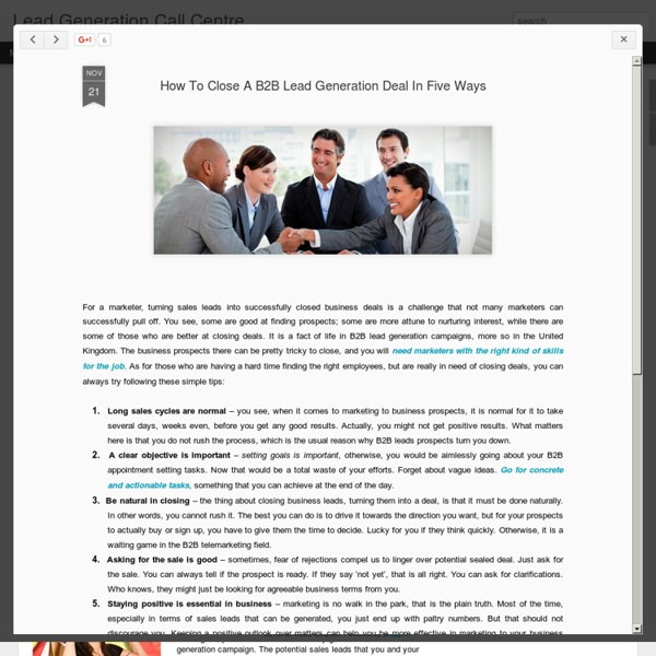 How To Close A B2B Lead Generation Deal In Five Ways