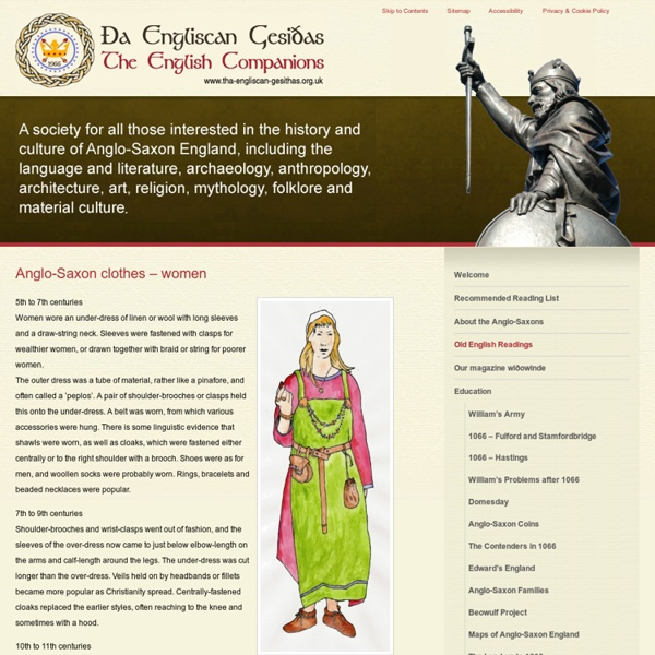 Anglo-Saxon clothes - women