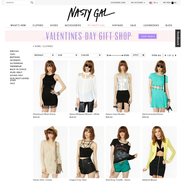 Clothes at Nasty Gal