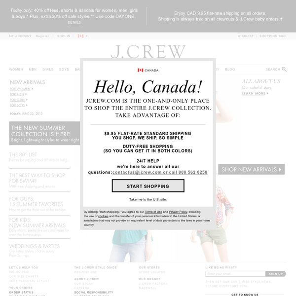 J.Crew - Cashmere Sweaters, Women's Clothing & Dresses, Men's Clothing & Kids' Clothing