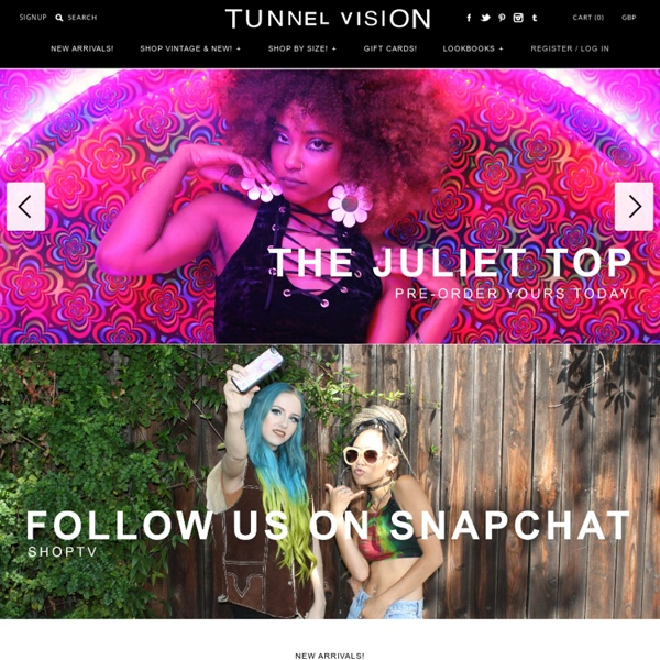 Clothing for Grungy Hippie Weirdo House Party/Dive Bar/Backyard Show Types – Tunnel Vision