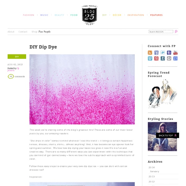 Dip Dye Clothing DIY – Do It Yourself Dip Dye