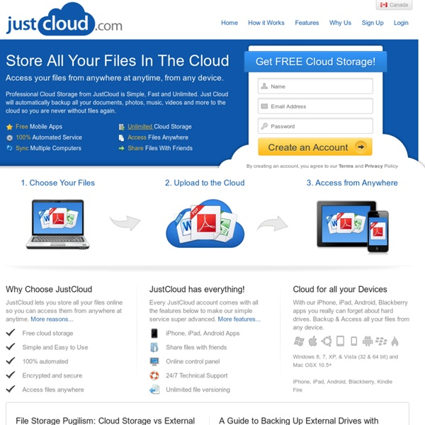 Cloud Storage From Just Cloud. Free Online Storage