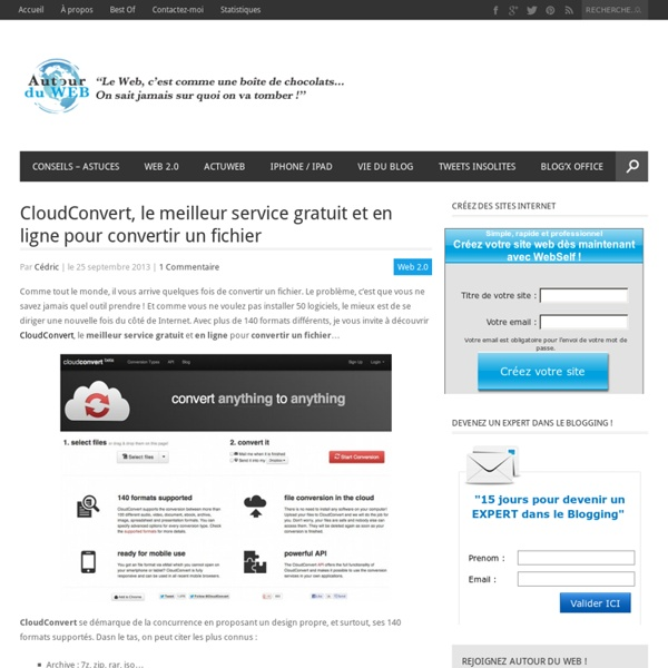 CloudConvert, le meilleur service gratuit et en ligne pour convertir un fichier
