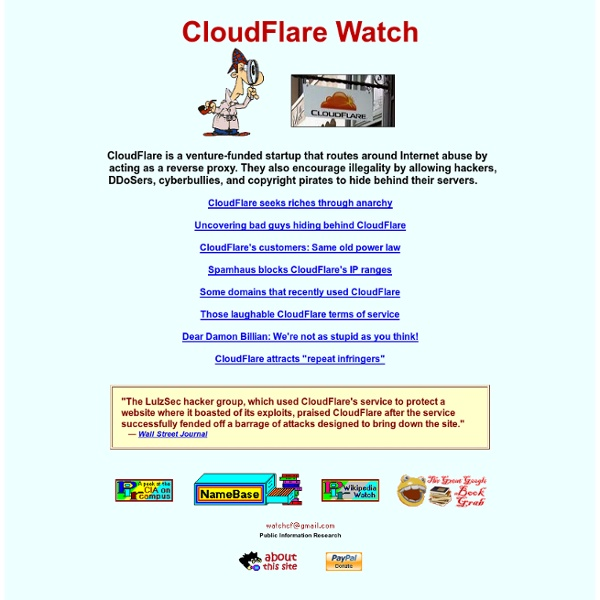 CloudFlare Watch