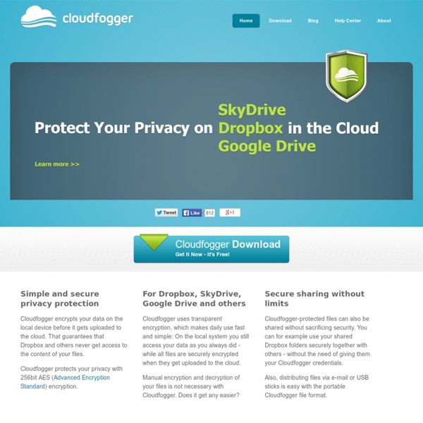 Cloudfogger - Free File Encryption for Dropbox and the Cloud