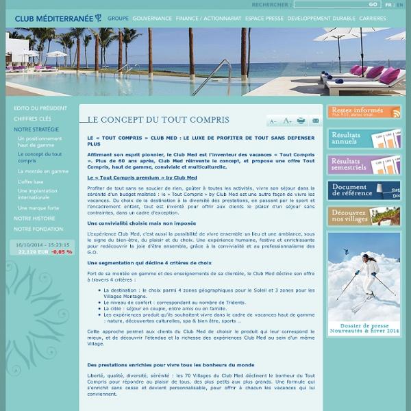 Club Med - Le concept du tout compris