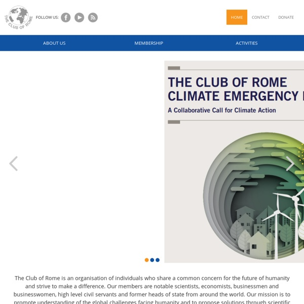 THE CLUB OF ROME (www.clubofrome.org)