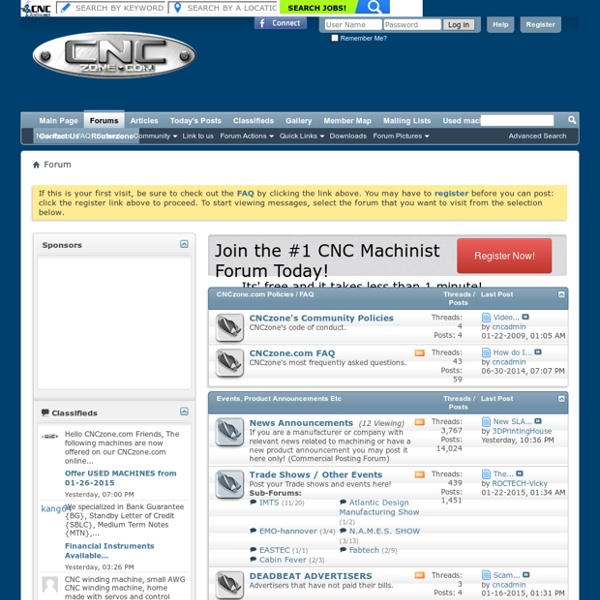 The Largest Forums for CNC Professional and Hobbyist alike!
