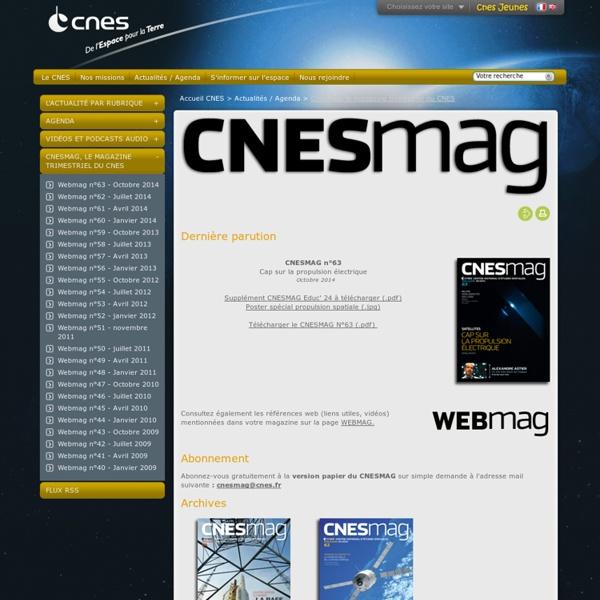 Mag, le magazine trimestriel du CNES