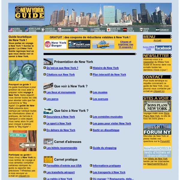©New York Guide, le guide de New York