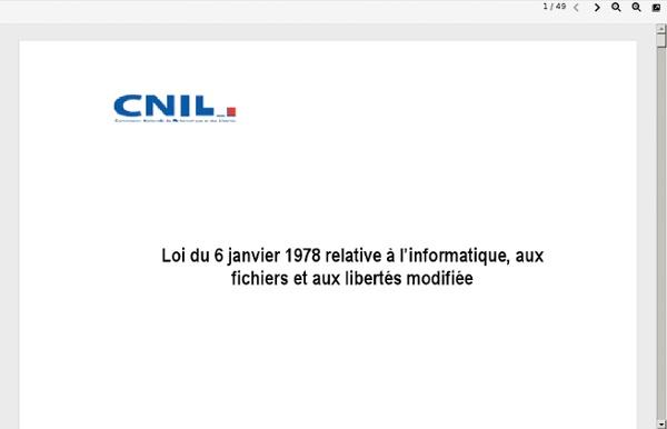 La loi Informatique et Libertés - CNIL
