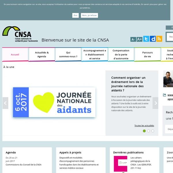 Bienvenue sur le site de la CNSA